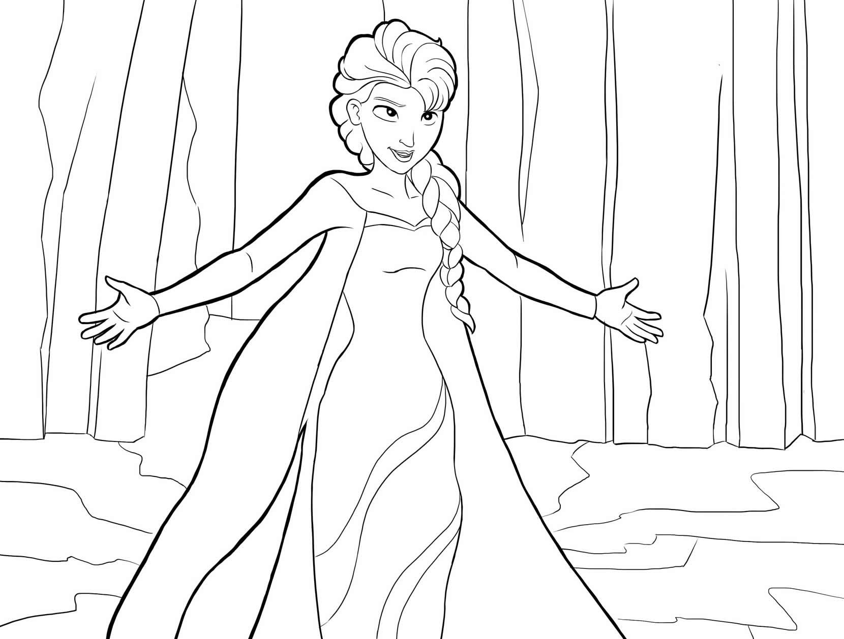 Imagem da Frozen para pintar