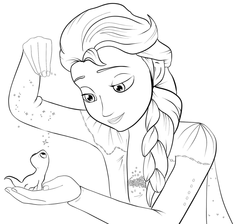 Desenho da Frozen para pintar