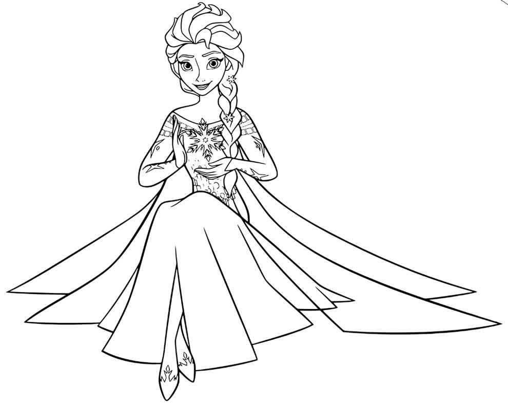 Desenho da princesa Frozen para colorir