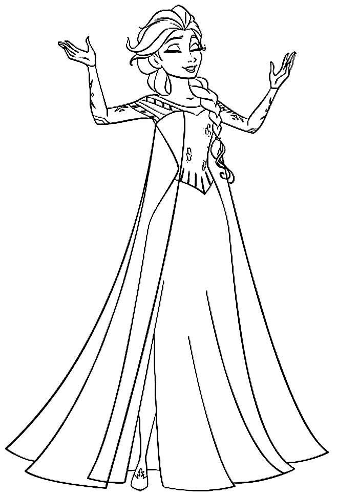 Imagem da princesa Frozen para colorir