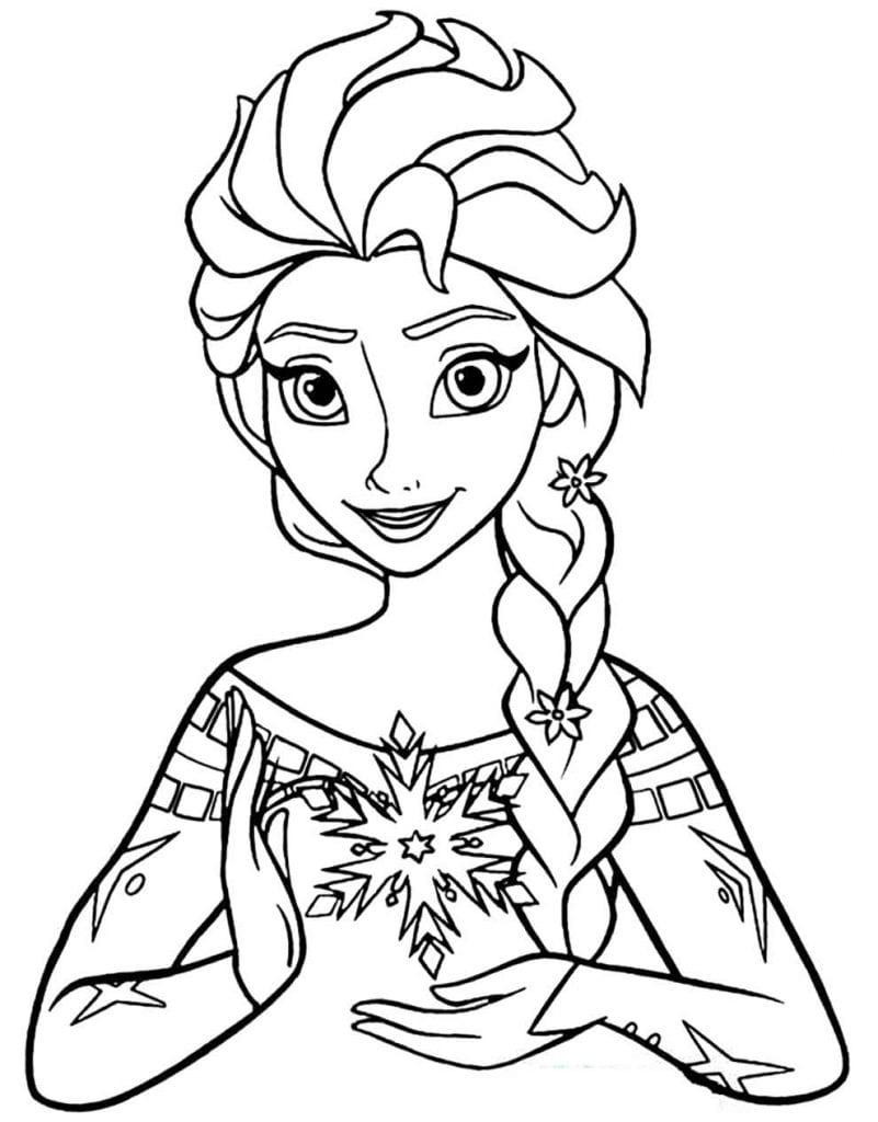 Imagem da Frozen para colorir Desenhos para pintar infantil
