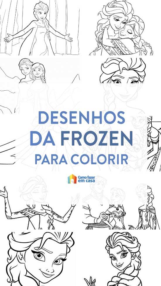 Desenhos da Frozen para colorir