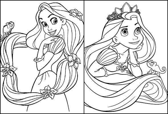 Desenhos De Rapunzel Para Colorir Como Fazer Em Casa