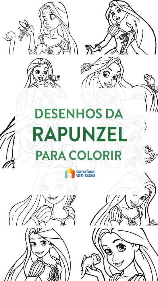 Desenhos de Rapunzel para colorir