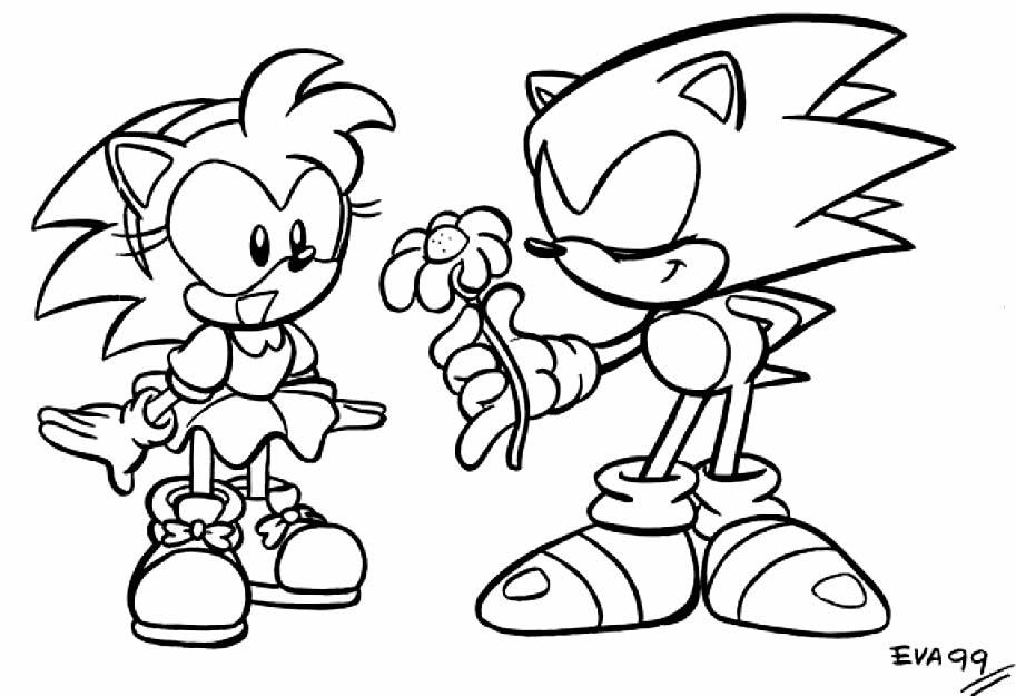 Imagem do Sonic para pintar