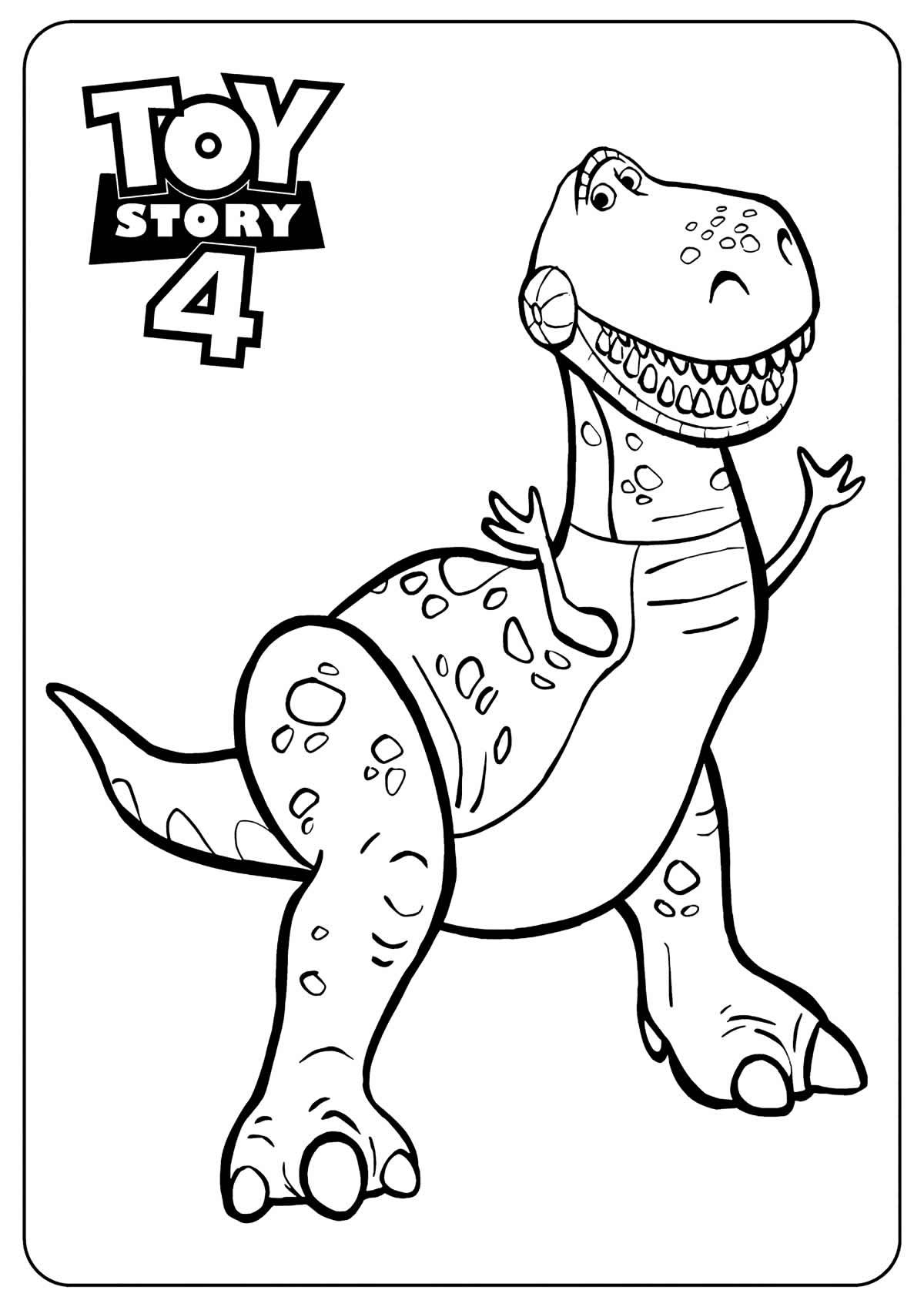Desenho para colorir de Toy Story 4