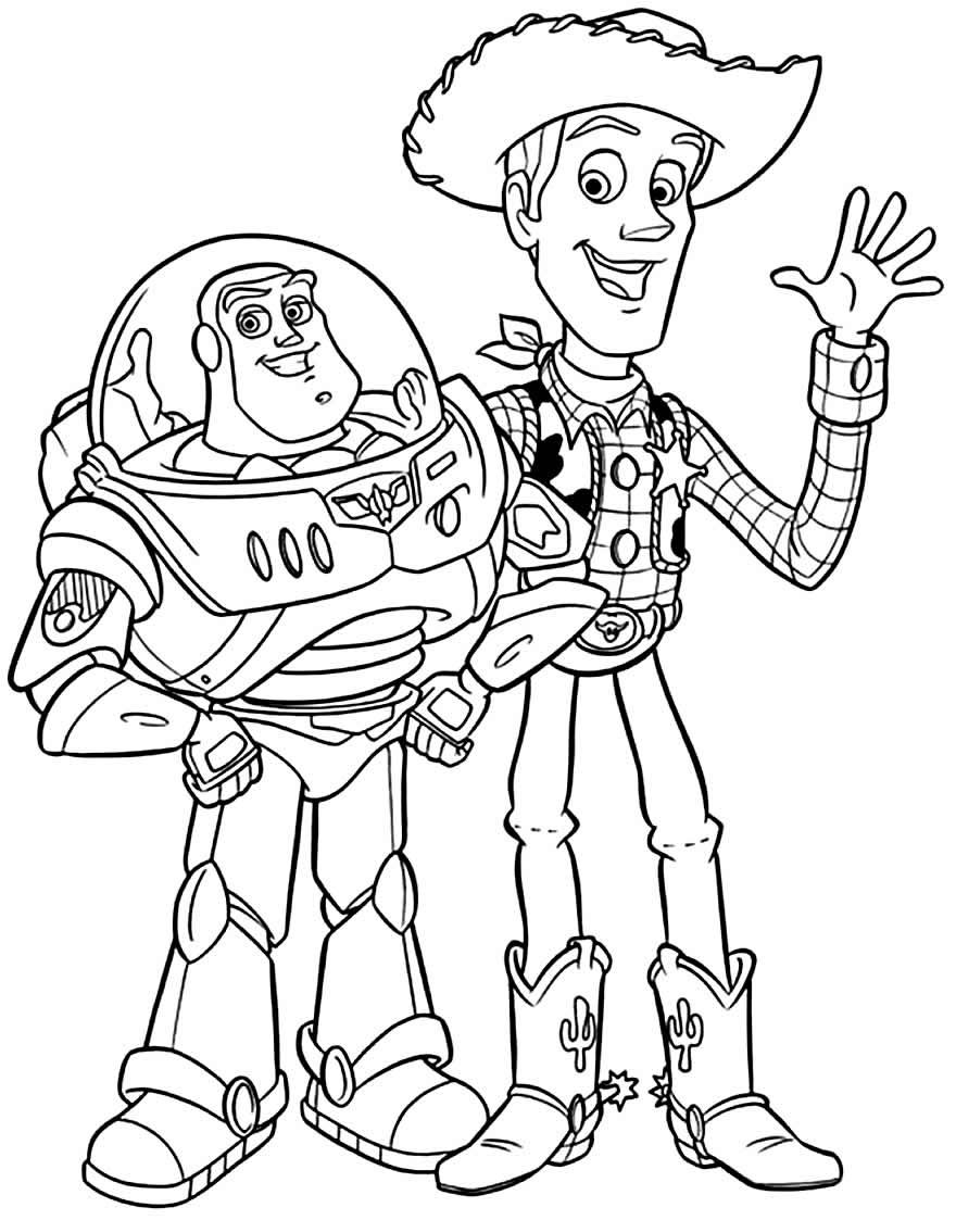 Desenho para pintar de Toy Story 4