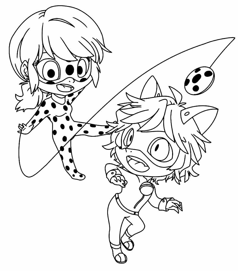 Desenho da Ladybug para colorir