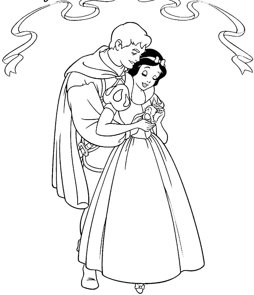 Desenho para colorir da Branca de Neve