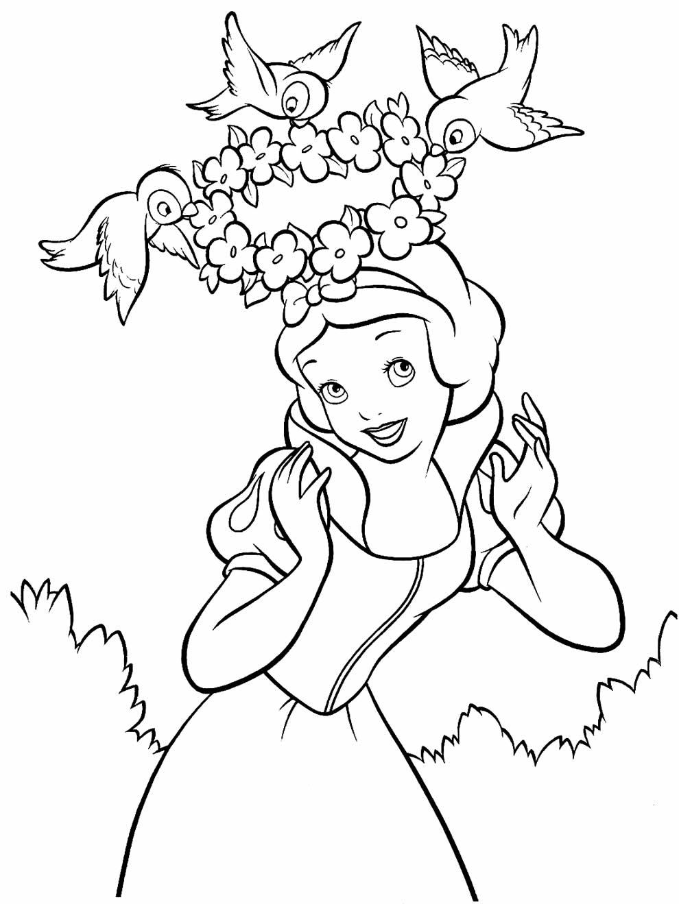 Desenho para pintar da Branca de Neve