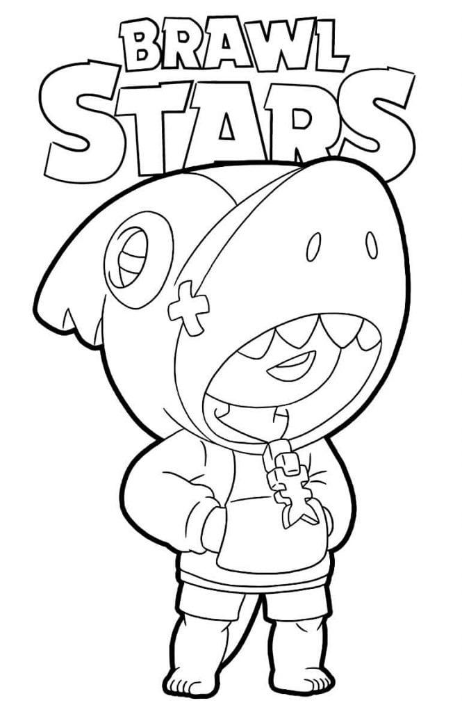 Desenho de Brawl Stars para colorir
