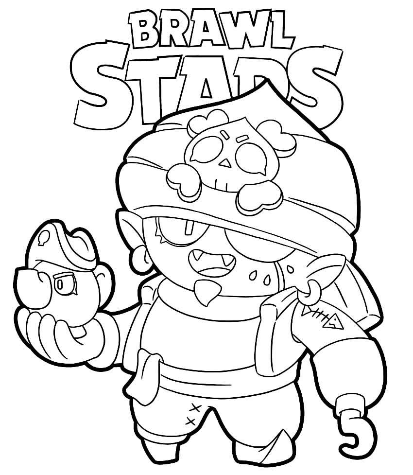 Desenho de Brawl Stars para pintar