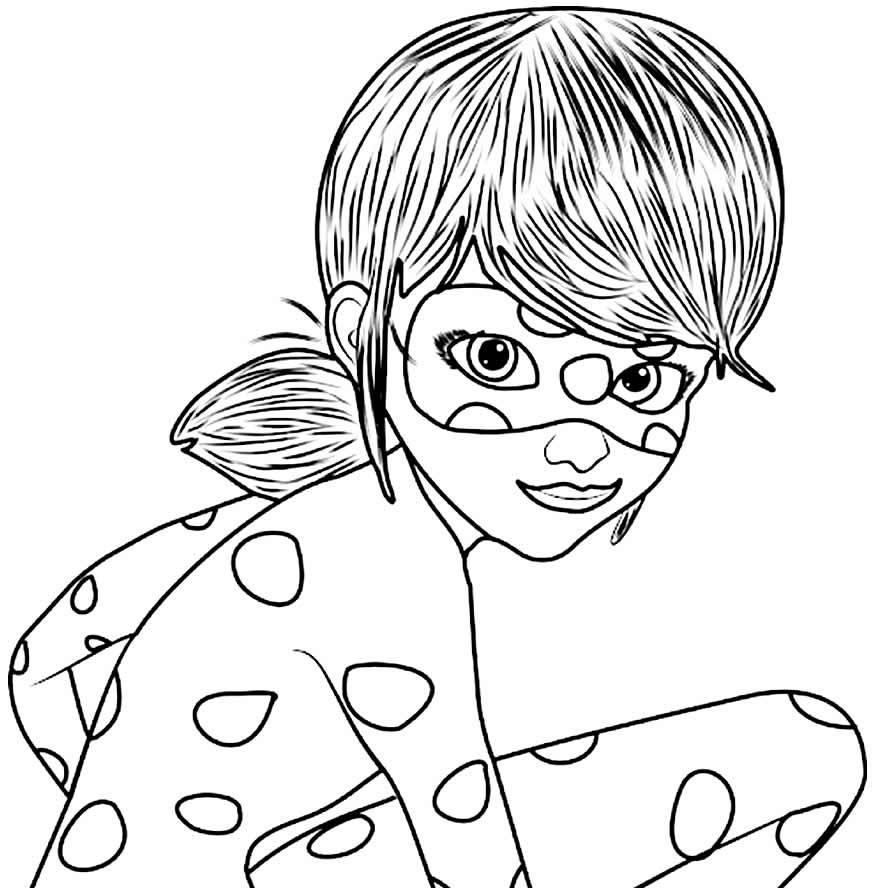 Imagem da Ladybug para pintar