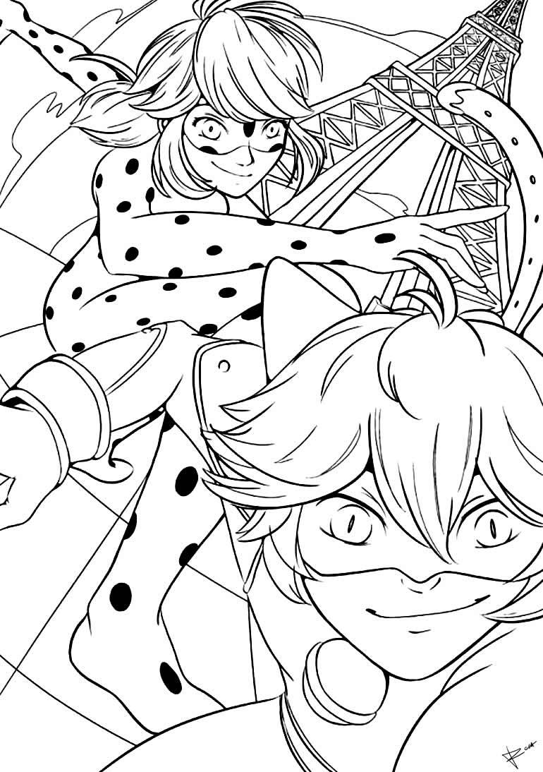 Desenho da Ladybug para pintar
