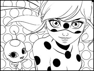 Desenhos de Ladybug para colorir