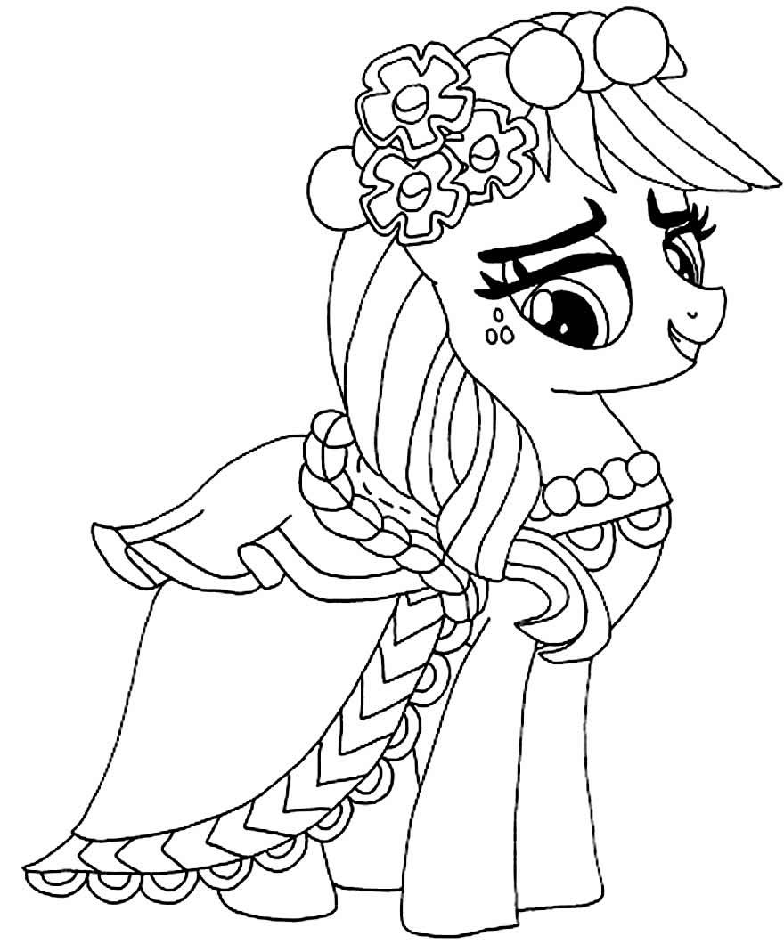 Desenho para colorir de Meu Pequeno Pónei para colorir