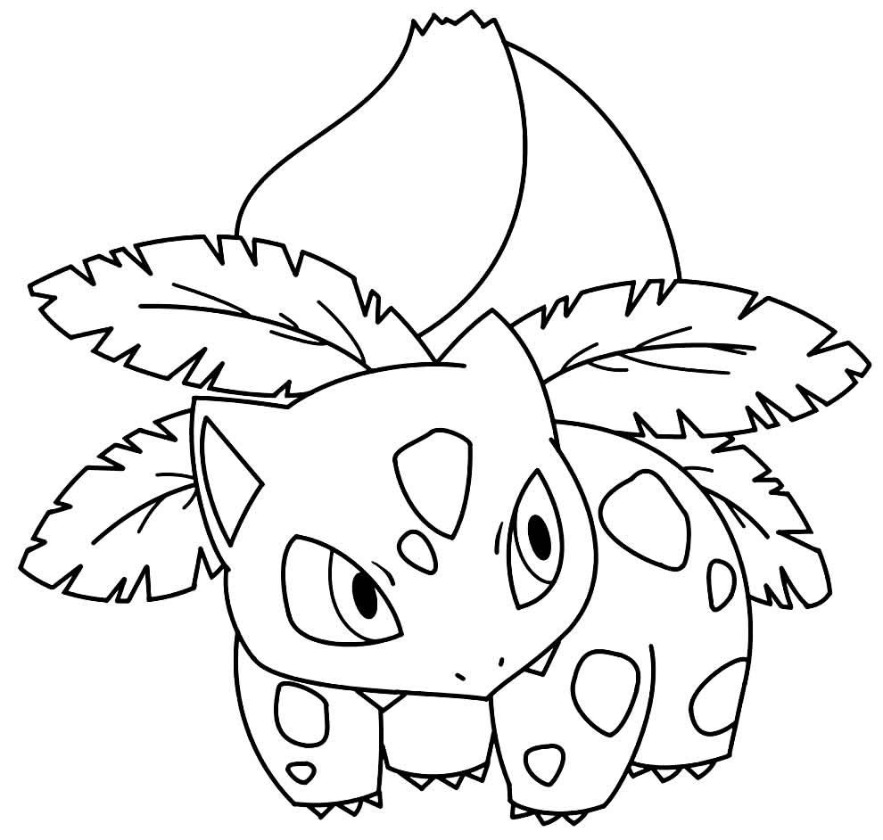 Desenho de Pokémon para pintar