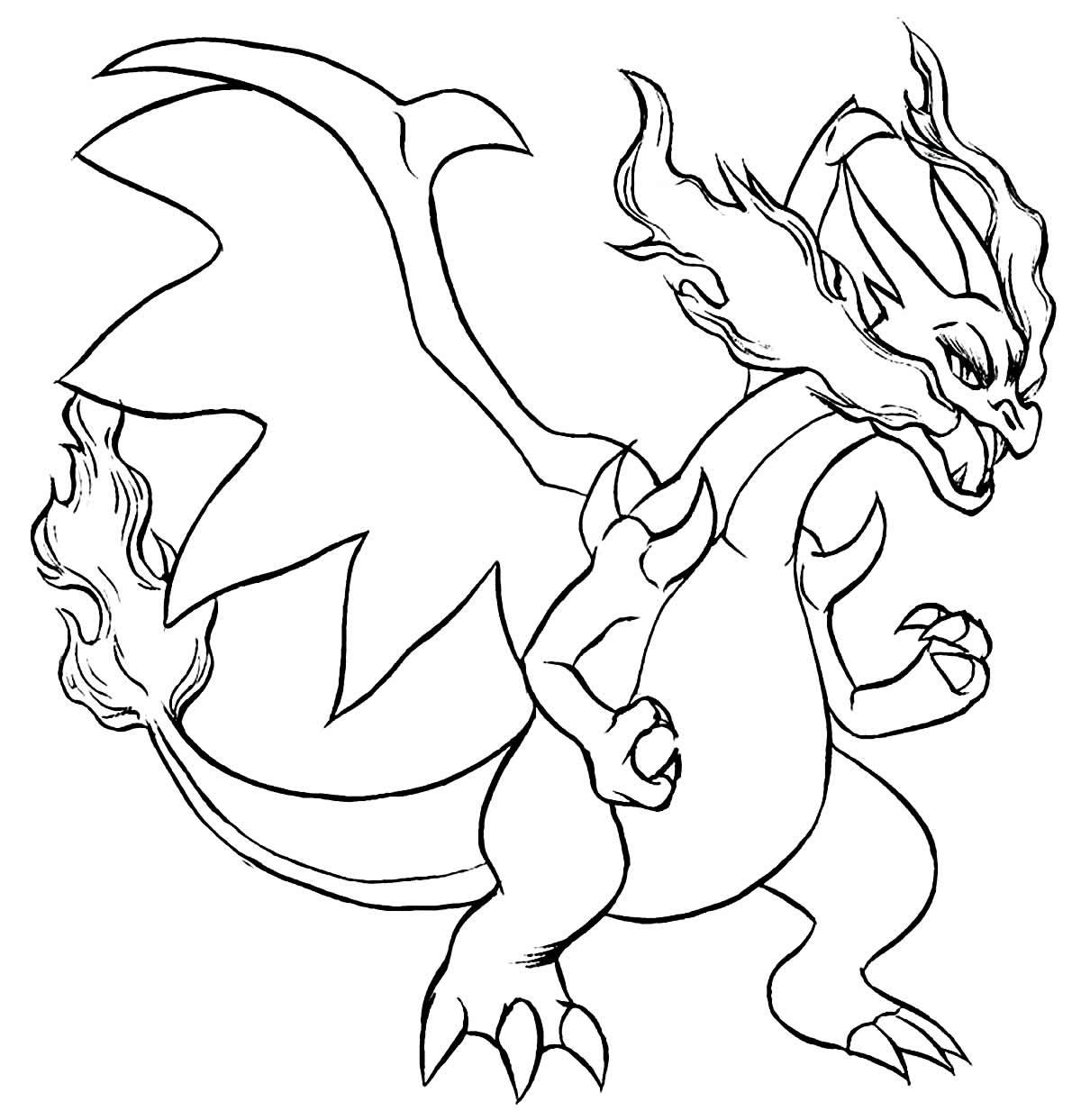 Desenho de Charizard para colorir