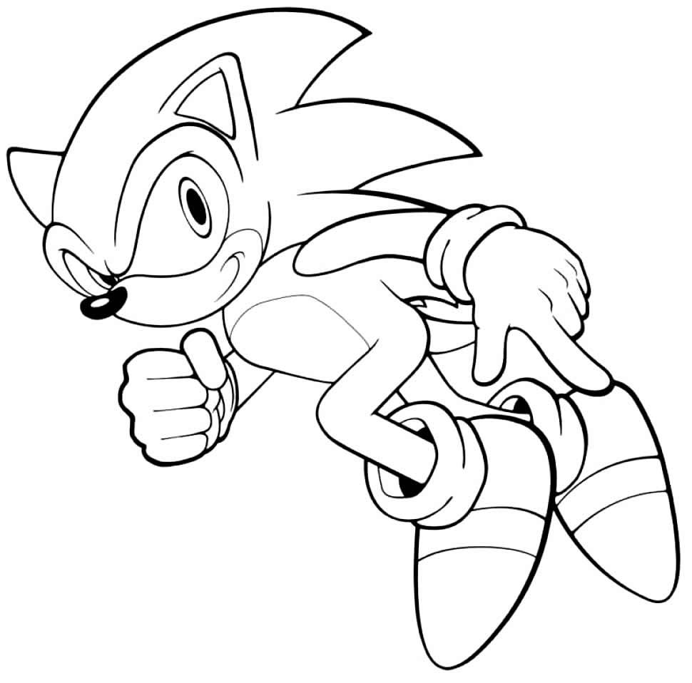 Desenho de Sonic para pintar Desenhos para pintar infantil