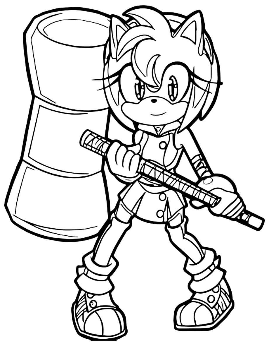 Imagem de Sonic para colorir