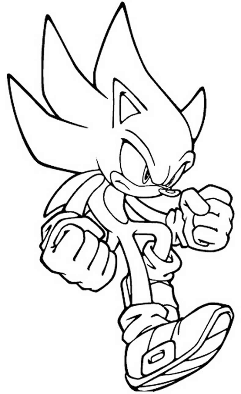 Imagem de Sonic para pintar