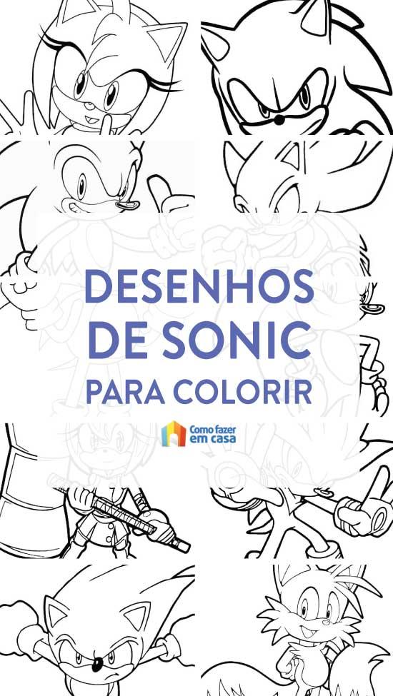 Desenhos de Sonic para colorir
