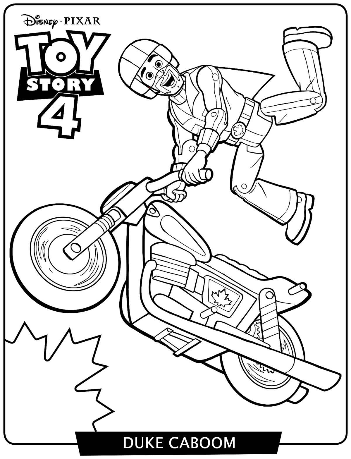 Desenho de Toy Story 4 para pintar