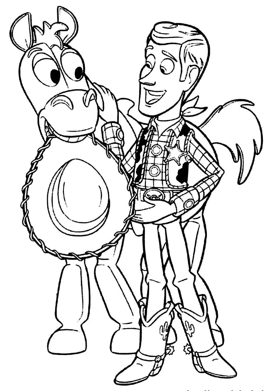 Desenho de Toy Story 4 para colorir