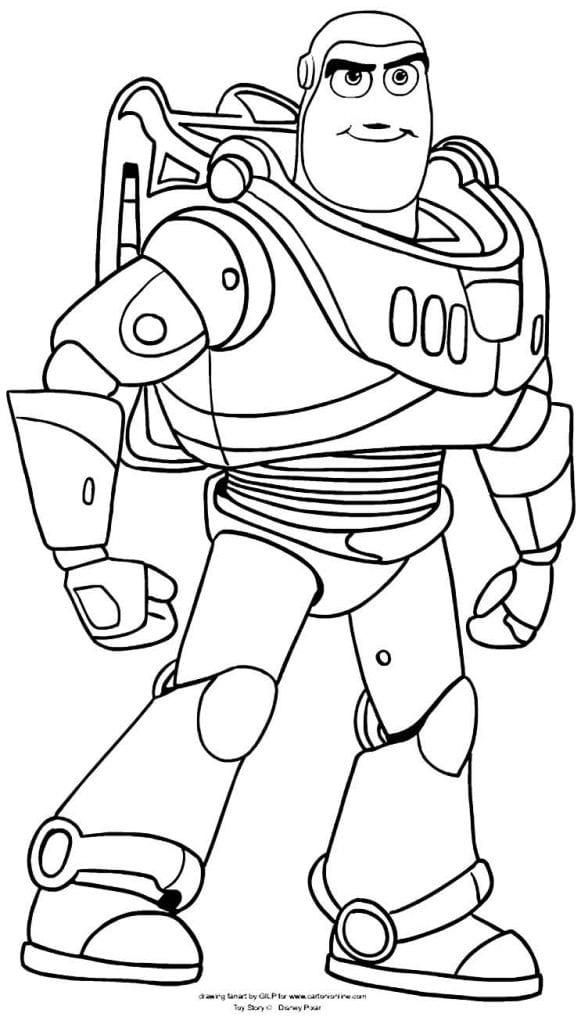 Imagem de Toy Story 4 para colorir Desenhos para pintar infantil