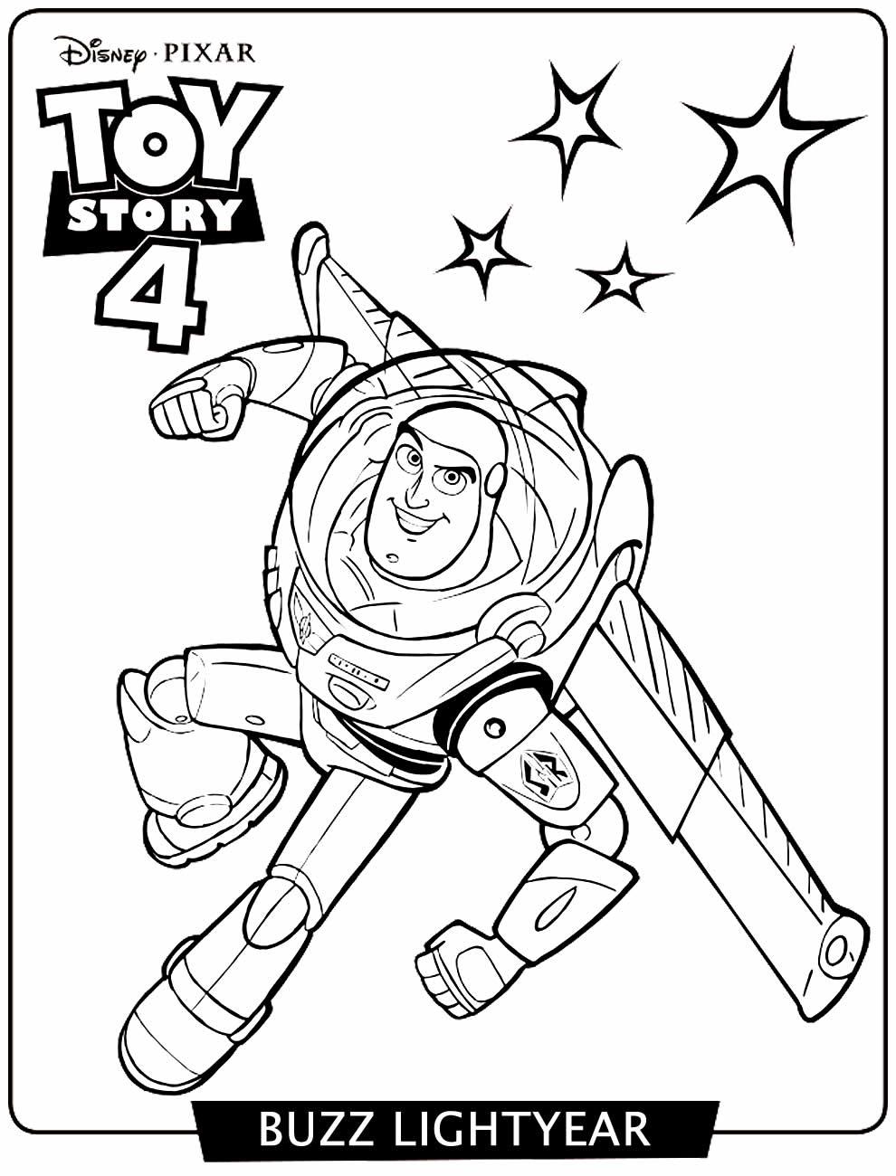 Imagem de Toy Story 4 para colorir