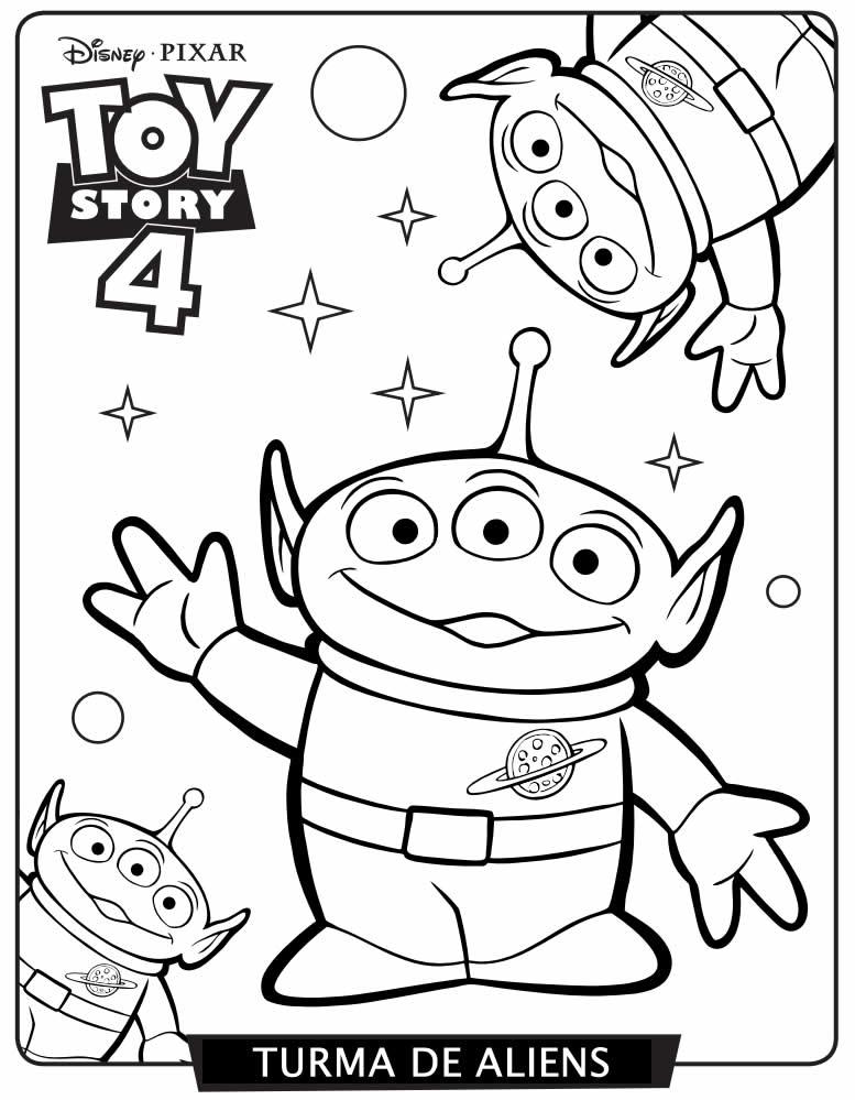 Imagem de Toy Story 4 para pintar