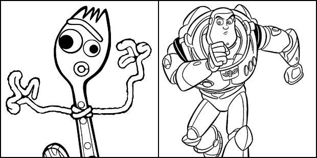 Desenhos para colorir de Toy Story 4