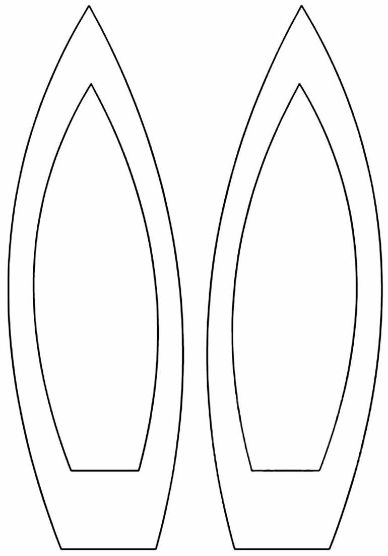 Molde de orelhinhas de coelho