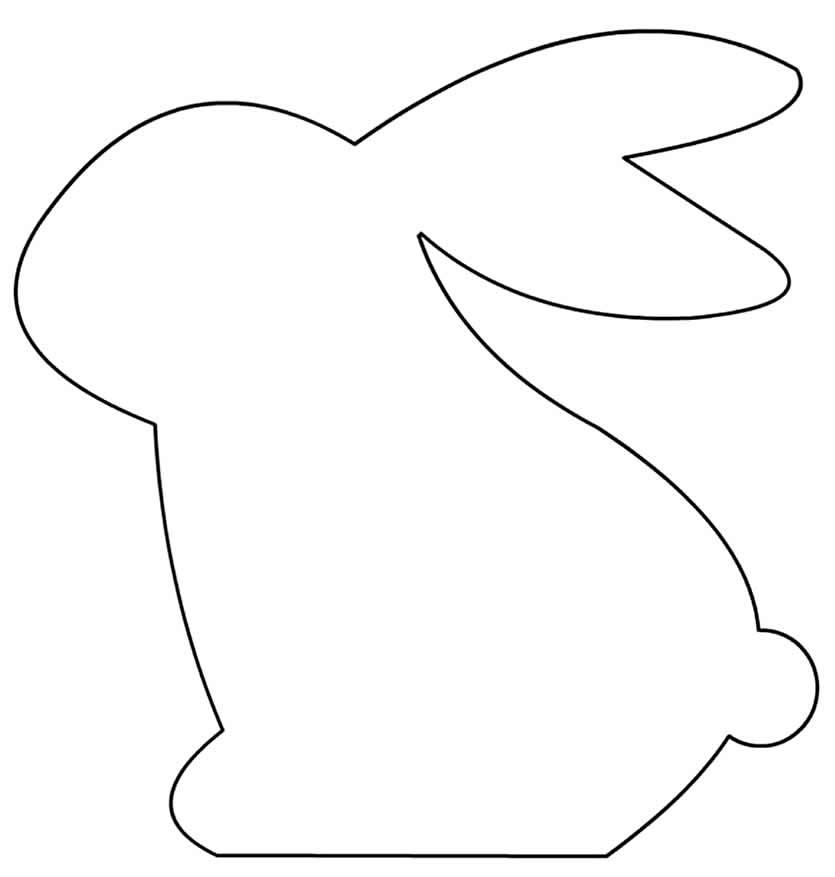 Molde para fazer coelhinho de feltro