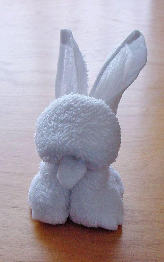 coelhinho de toalha