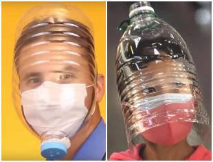 Máscara de garrafa PET para fazer em casa