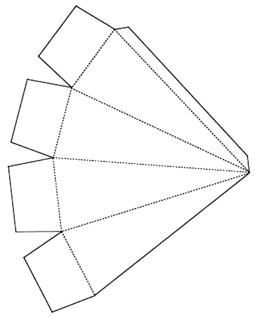 Molde de caixinha coqueiro