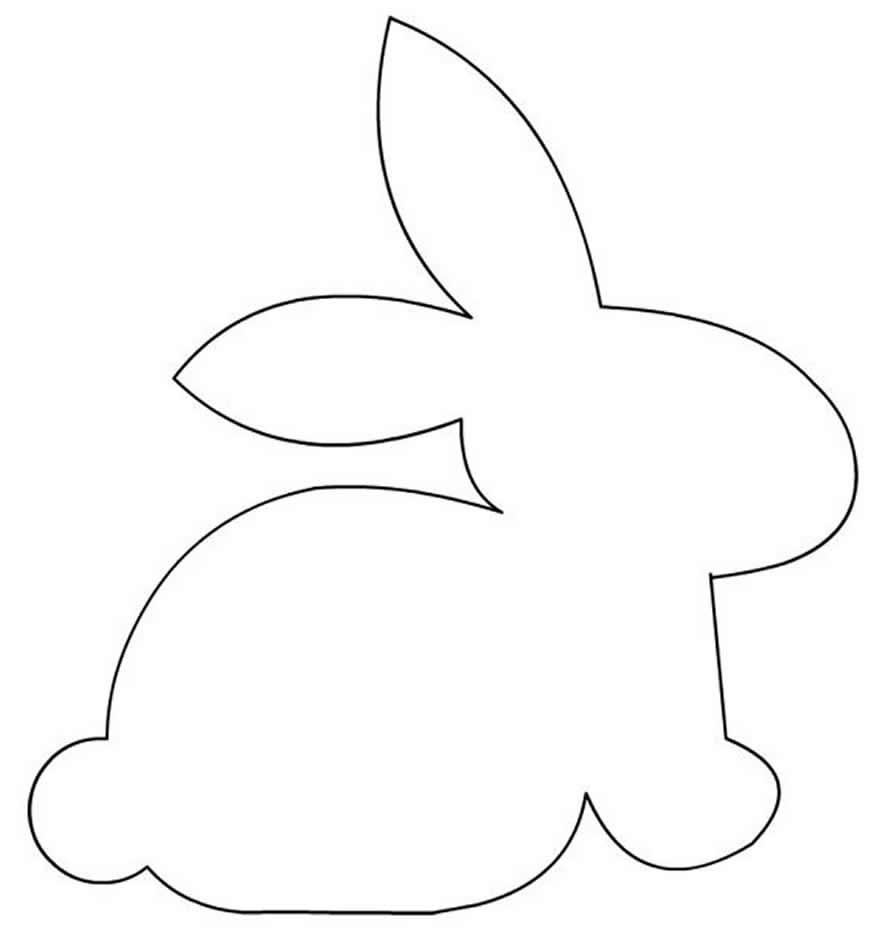 Molde de coelhinho de Páscoa
