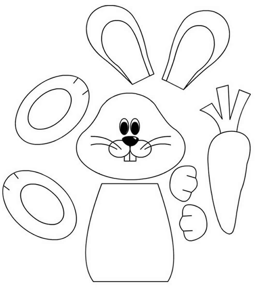 Moldes de coelho de Páscoa