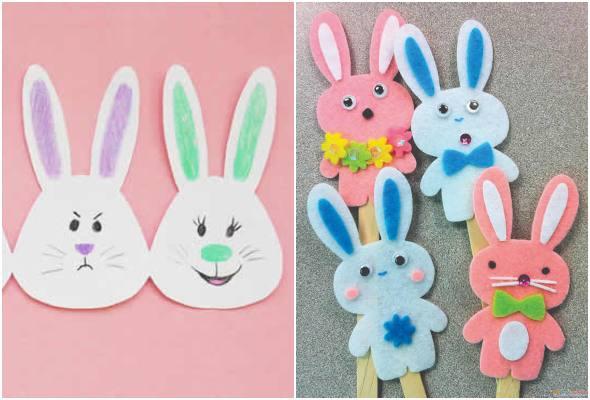 Moldes de coelhinhos para decoração de Páscoa