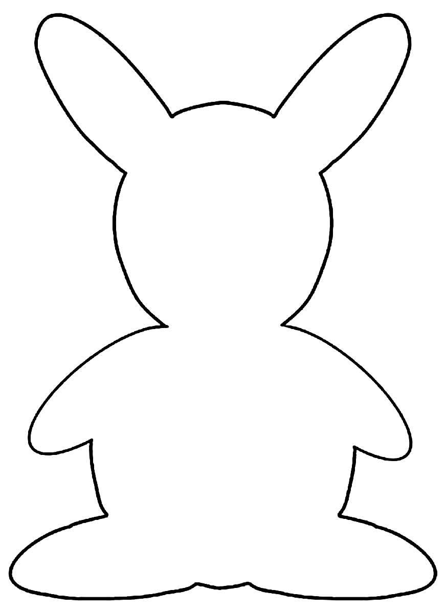 Molde para coelho de feltro