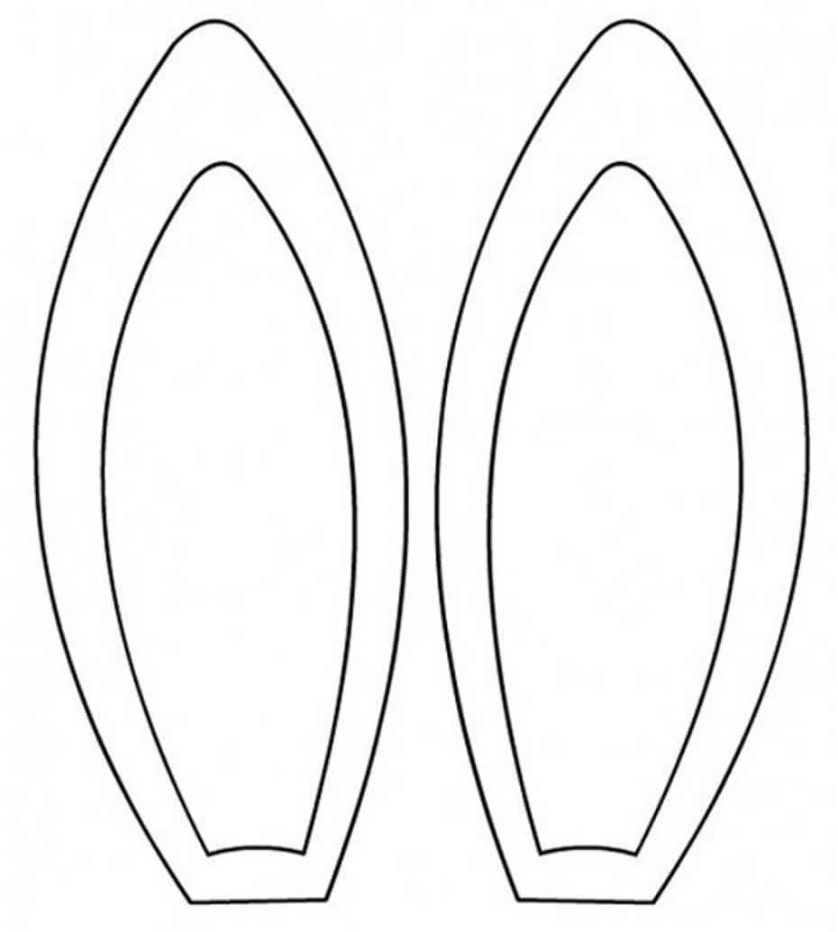 Molde de orelha de coelho