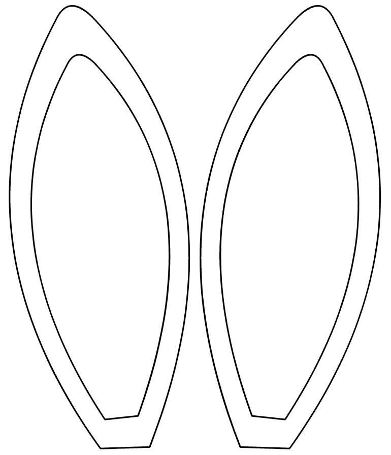 Molde de orelha de coelho para Páscoa