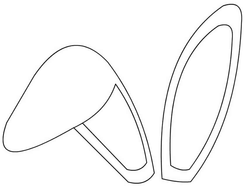 Molde de orelha de coelho para decoração de Páscoa
