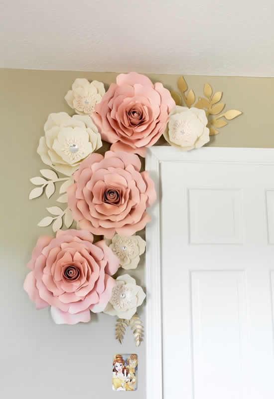 Flores de papel lindas para decoração