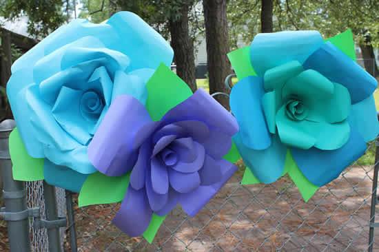 Flores de papel para decoração