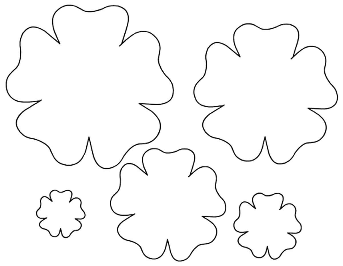 Moldes de pétalas para fazer flores de papel