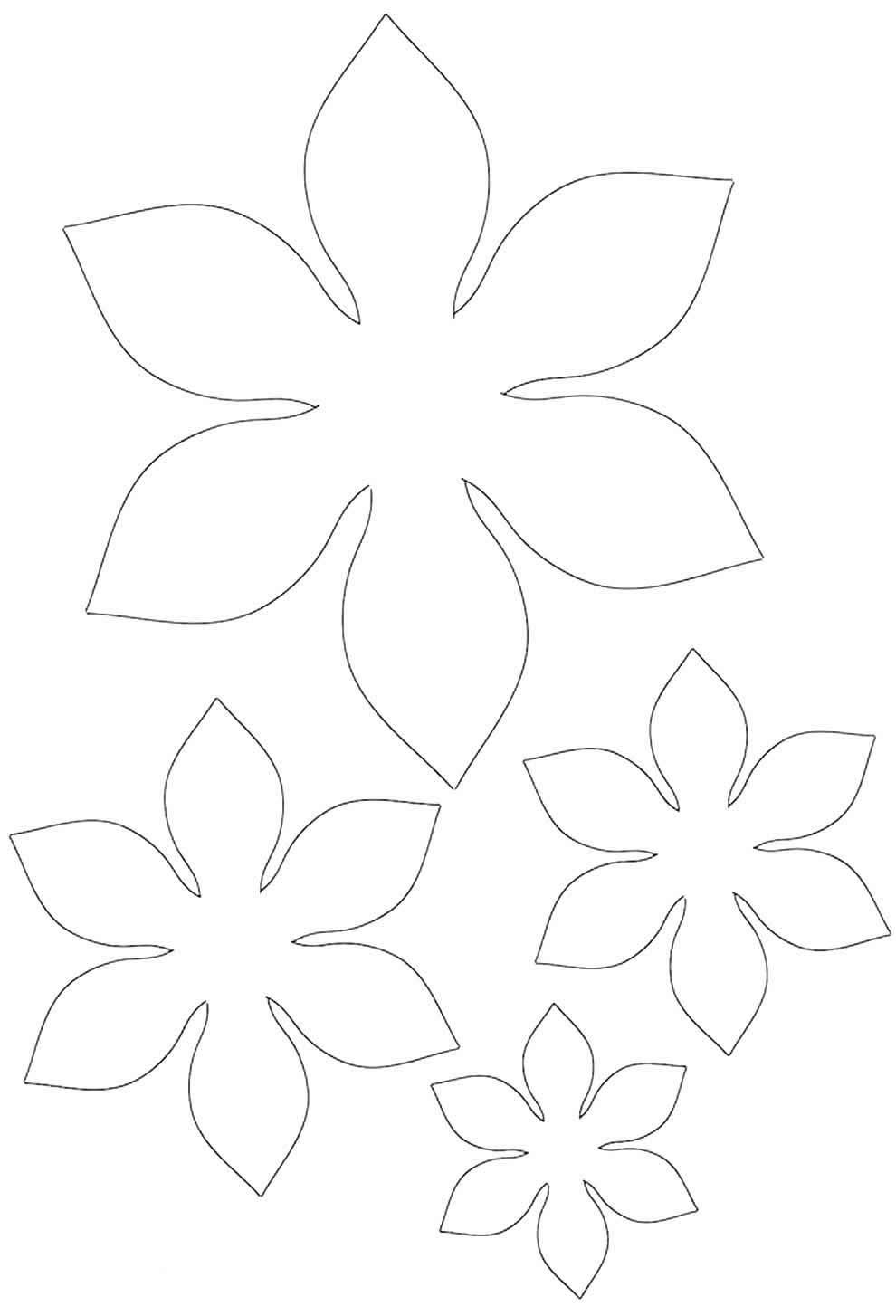 Molde de pétalas de papel