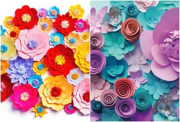 Moldes de pétalas para flores de papel