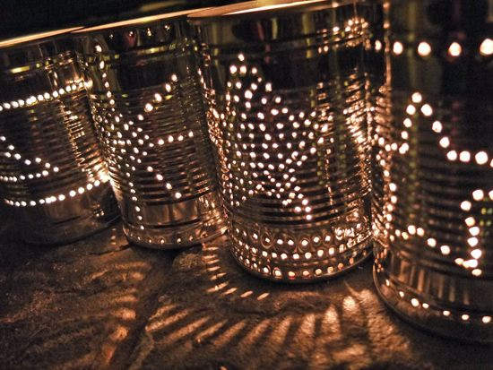 Luminária com lata